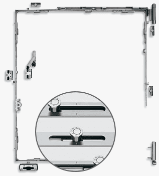 Octagonal locking pin