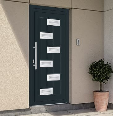 Modern Range PVC Entrance Doors