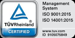 Certification ISO TUV Rheinland