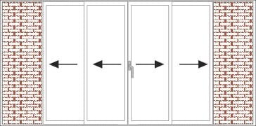 2-rail pocket-sliding frame – double opening